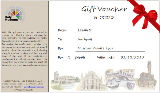 Gift Voucher – Florence Museums